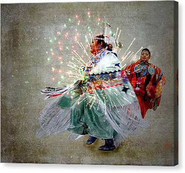 fire Dance Canvas Print by Irma BACKELANT GALLERIES