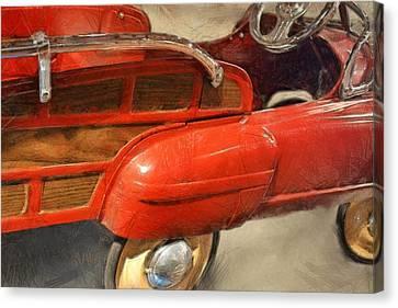 Fire Engine Pedal Car Canvas Print by Michelle Calkins