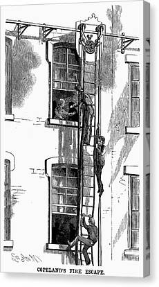 Fire Escape, 1883 Canvas Print by Granger