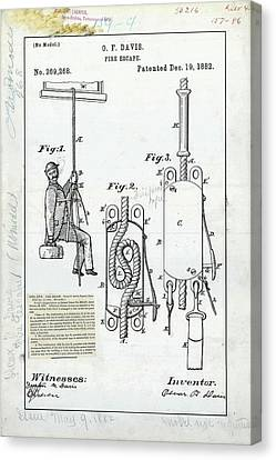Fire Escape Patent Canvas Print by Us Patent And Trademark Office