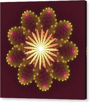 Fire Flower Mandala Canvas Print by Svetlana Nikolova