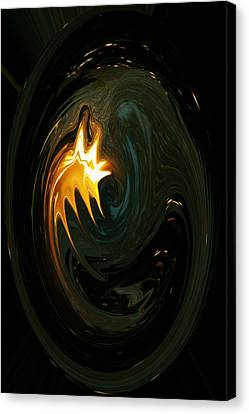 Fire From Above Canvas Print by Ella Char