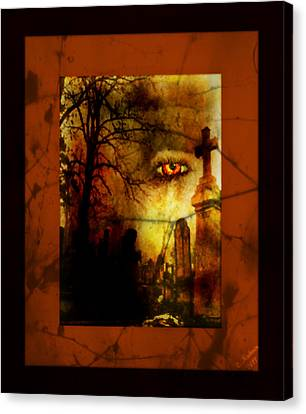Fire In The Eye Canvas Print by Christi Kuhner