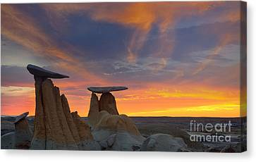 Fire In The Sky Canvas Print by Keith Kapple