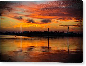 Fire In The Sky Canvas Print by Kristopher Schoenleber
