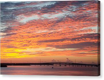 Fire In The Sky Canvas Print by Margaret Pitcher