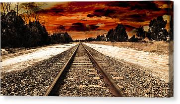 Fire In The Sky Canvas Print by Phill Petrovic