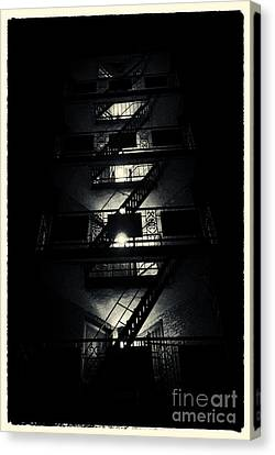 Fire Ladders Park Slope New York City Canvas Print by Sabine Jacobs