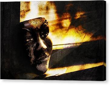 Fire Mask Canvas Print by Scott Norris