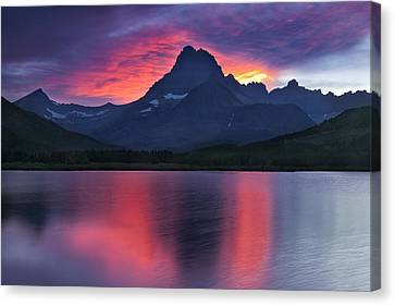 Fire On The Mountain Canvas Print by Andrew Soundarajan