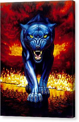 Fire Panther Canvas Print by MGL Studio - Chris Hiett