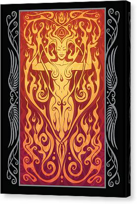 Fire Spirit V.2 Canvas Print by Cristina McAllister