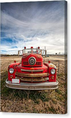 Fire Truck Canvas Print by Peter Tellone