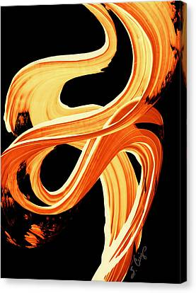 Fire Water 207 By Sharon Cummings Canvas Print by Sharon Cummings