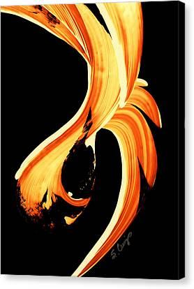 Fire Water 260 By Sharon Cummings Canvas Print by Sharon Cummings