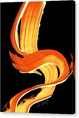 Fire Water 269 By Sharon Cummings Canvas Print by Sharon Cummings