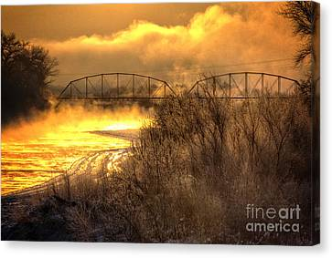 Fire Water Canvas Print by Bob Hislop