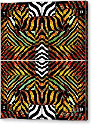 Fire Zebra Canvas Print by Joseph J Stevens