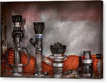 Firefighting - One For Everyone Canvas Print by Mike Savad
