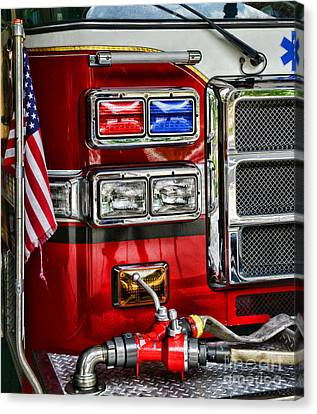 Fireman - Fire Engine Canvas Print by Paul Ward