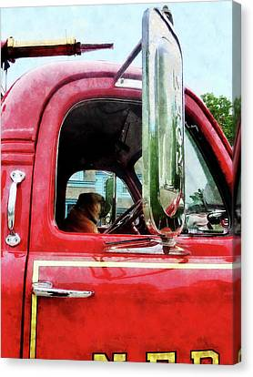 Fireman - Fireman's Best Friend Canvas Print by Susan Savad