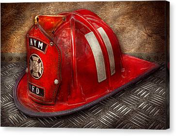 Fireman - Hat - A Childhood Dream Canvas Print by Mike Savad