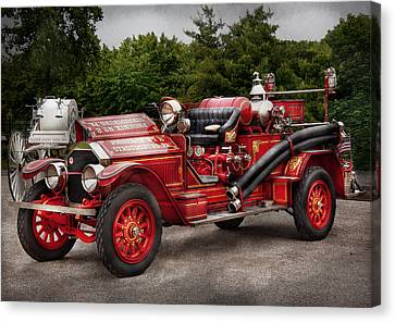 Fireman - Phoenix No2 Stroudsburg Pa 1923  Canvas Print by Mike Savad