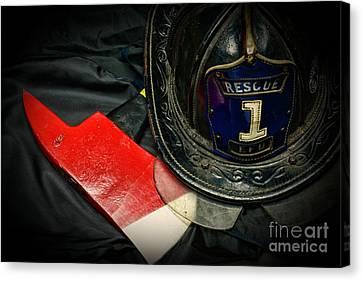 Fireman - Rescue 1 Canvas Print by Paul Ward