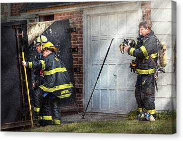 Fireman - Take All Fires Seriously  Canvas Print by Mike Savad