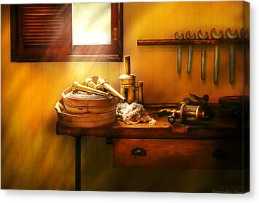 Fireman - The Humble Fire Hose Canvas Print by Mike Savad
