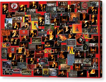 Firemen Series Collage Canvas Print by Thomas Woolworth