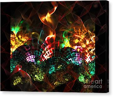 Fireplace Canvas Print by Klara Acel
