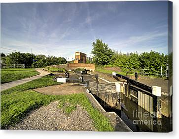 Firepool Lock Canvas Print by Rob Hawkins