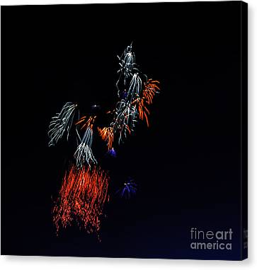 Fireworks Abstract Canvas Print by Robert Bales