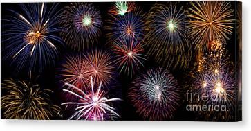 Fireworks Background Canvas Print by   CursedSenses
