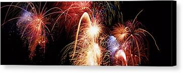 Fireworks Display, Banff, Alberta Canvas Print by Panoramic Images
