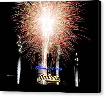 Fireworks Finale Canvas Print by Frozen in Time Fine Art Photography