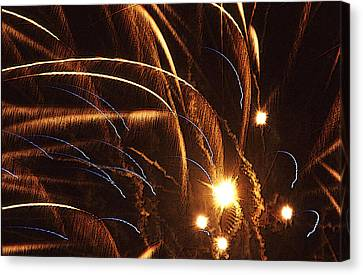 Fireworks In The Wind Canvas Print by Anthony Dalton