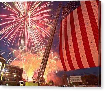 Fireworks Canvas Print by Jim DeLillo