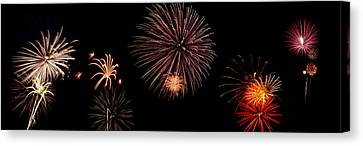 Fireworks Panorama Canvas Print by Bill Cannon