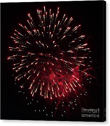 Fireworks Series Ix Canvas Print by Suzanne Gaff