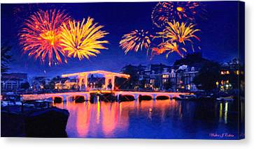 Fireworks Canvas Print by Walter Colvin