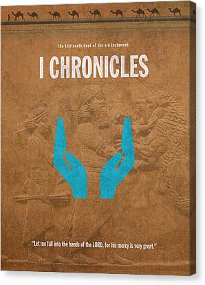First Chronicles Books Of The Bible Series Old Testament Minimal Poster Art Number 13 Canvas Print by Design Turnpike
