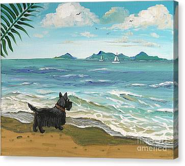 First Day Of Vacation Canvas Print by Margaryta Yermolayeva