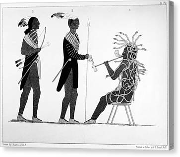 First Iroquois Chief Canvas Print by Granger
