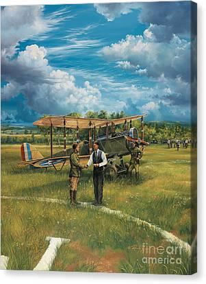 First Landing At Shepherd's Field Canvas Print by Randy Green