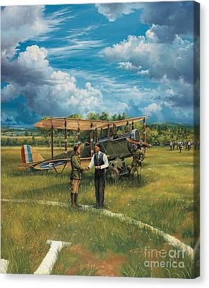 First Landing At Shepherd's Field Canvas Print by Randy Green