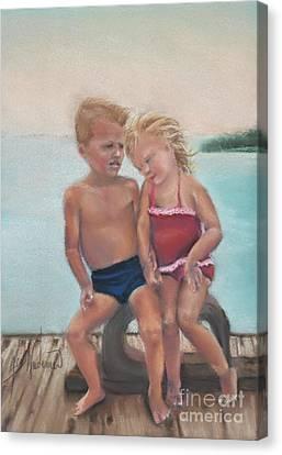 First Love Canvas Print by Leah Wiedemer