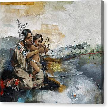 First Nations 19 Canvas Print by Corporate Art Task Force