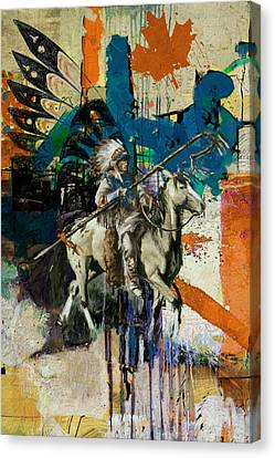 First Nations 35 Canvas Print by Corporate Art Task Force